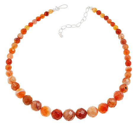 Jay King Orange/Red Chalcedony Necklace