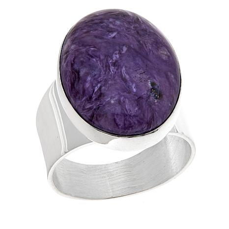 Jay King Oval Charoite Sterling Silver Ring