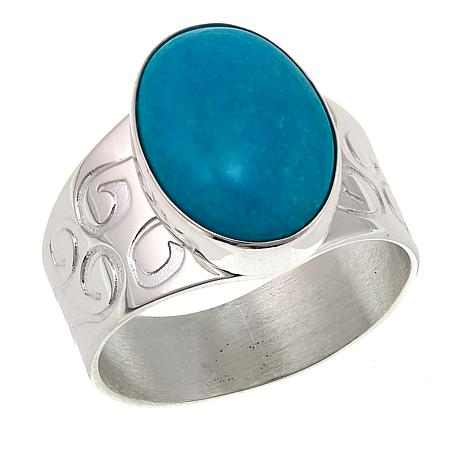 Jay King Oval Chilean Turquoise Sterling Silver Ring