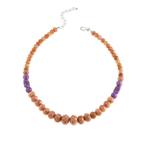 "Jay King Peach Stone and Phosphosiderite Bead 20-1/4"" Necklace"