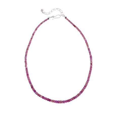 "Jay King Pink Sapphire Bead 18-1/2"" Necklace"