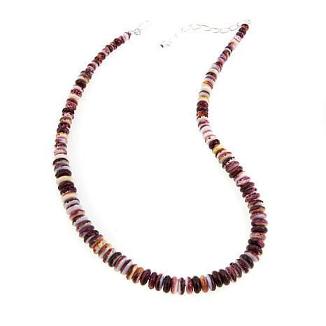 """Jay King Purple Spiny Oyster Shell 19-1/4"""" Necklace"""