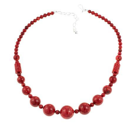 """Jay King Red Coral Bead 20-1/4"""" Necklace"""