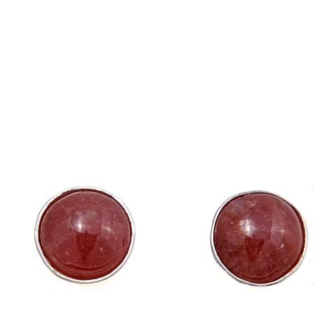 Jay King Rhodocrosite Sterling Silver Stud Earrings