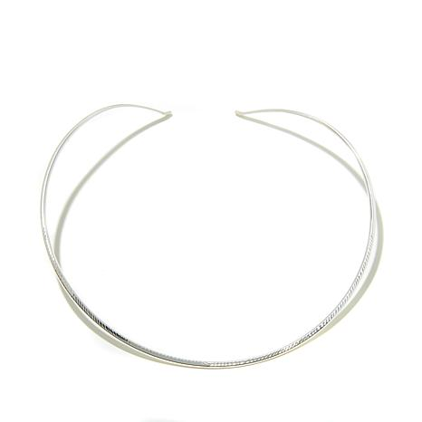 Jay King Rounded Wire Sterling Silver Collar Necklace