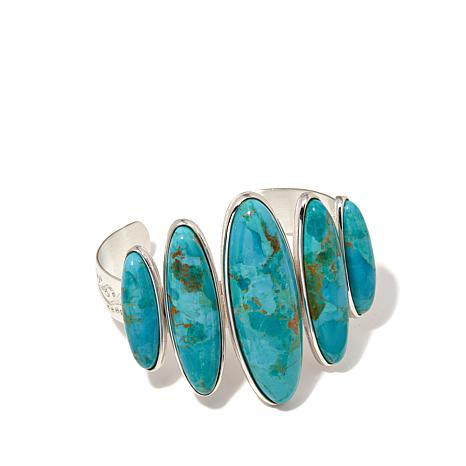 Jay King Santa Rita Sterling Silver Turquoise Cuff