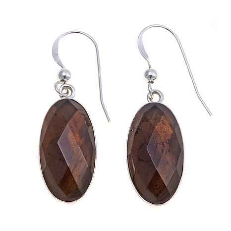 Jay King Smoky Quartz Faceted Drop Earrings