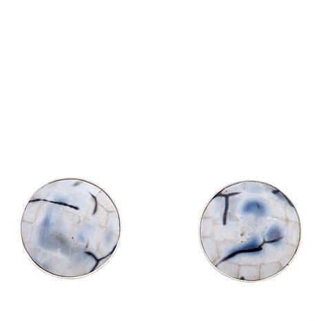 Jay King South African Agate Stud Earrings