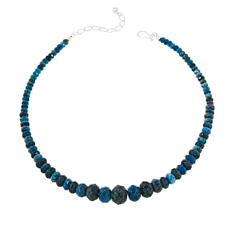 "Jay King Sterling Silver 18"" Multi-Color Apatite Bead Necklace"