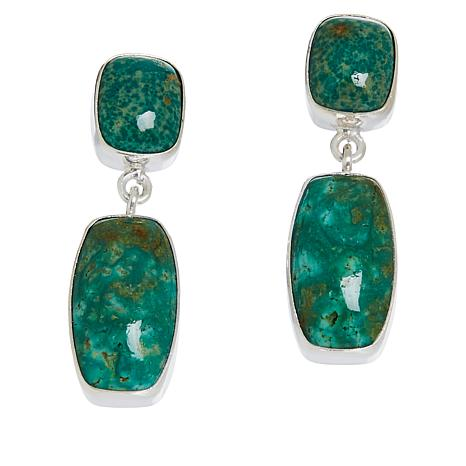 Jay King Sterling Silver Alicia Turquoise Drop Earrings