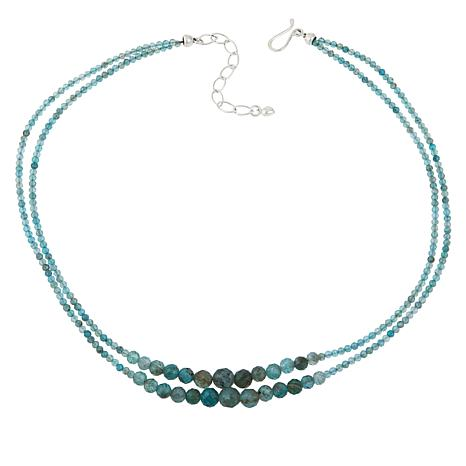 Jay King Sterling Silver Apatite Bead 2-Strand Necklace