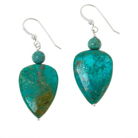 Jay King Sterling Silver Azure Peaks Turquoise Drop Earrings