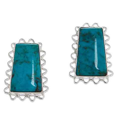 Jay King Sterling Silver Azure Peaks Turquoise Earrings