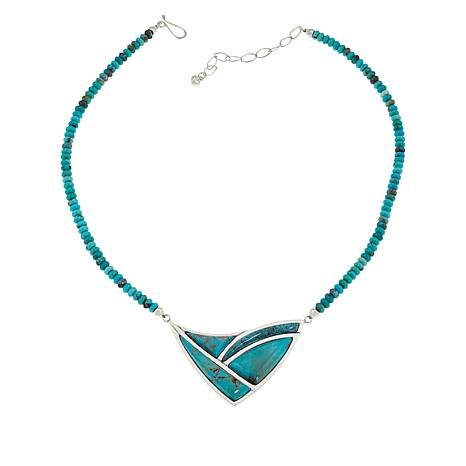 Jay King Sterling Silver Campitos Turquoise Necklace