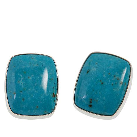 Jay King Sterling Silver Cloudy Mountain Turquoise Stud Earrings