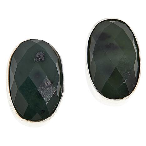 Jay King Sterling Silver Colored Gemstone Oval Stud Earrings
