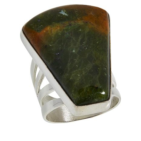 Jay King Sterling Silver Green Chrome Opal Ring