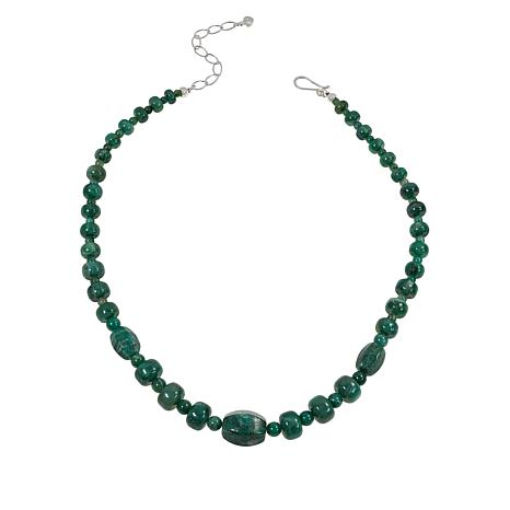 Jay King Sterling Silver Green Quartz Bead Necklace