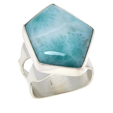 Jay King Sterling Silver Larimar Ring