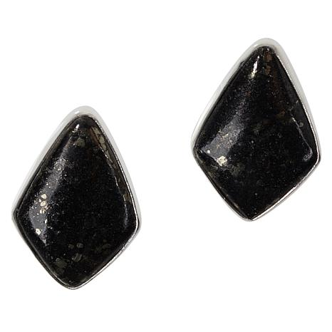 Jay King Sterling Silver Magnetite/Pyrite Earrings