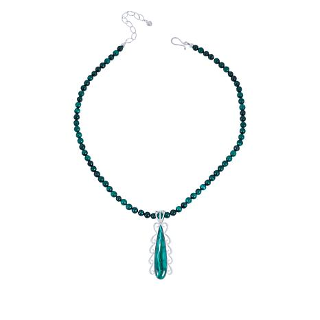 Jay King Sterling Silver Malachite Pendant with Necklace