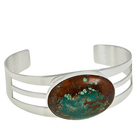 Jay King Sterling Silver New Red Skin Turquoise Split-Design Cuff