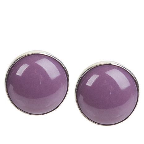 Jay King Sterling Silver Phosphosiderite Button Earrings