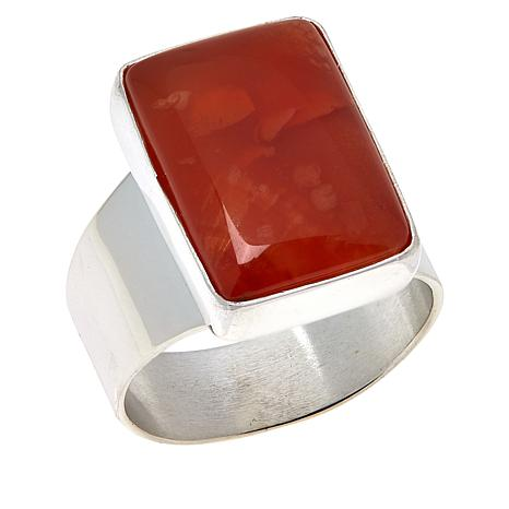 Jay King Sterling Silver Red Chalcedony Ring