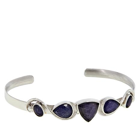 Jay King Sterling Silver Tanzanite Cuff Bracelet