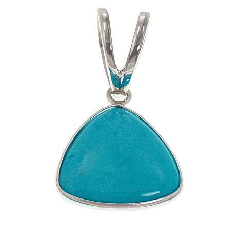 Jay King Sterling Silver Triangular Gem Pendant