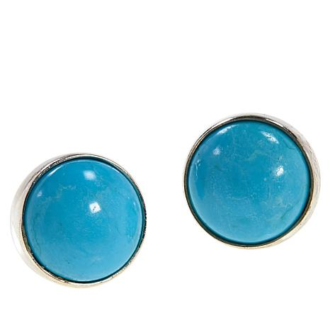 Jay King Sterling Silver Turquoise Hill Turquoise 8mm Stud Earrings