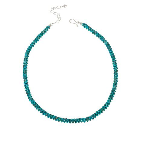 Jay King Sterling Silver Turquoise Hill Turquoise Woven Bead Necklace