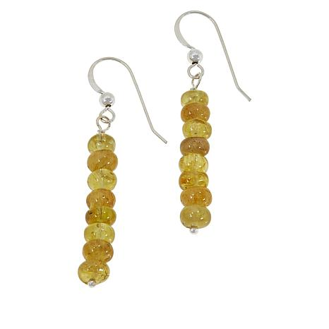 Jay King Sterling Silver Yellow Apatite Bead Drop Earrings