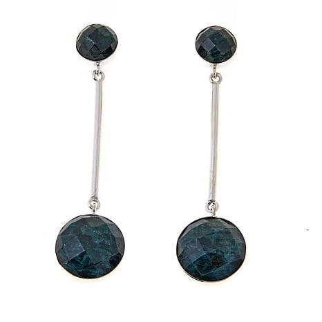 Jay King Teal Apatite Sterling Silver Pendulum Earrings