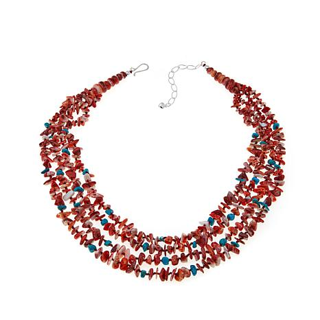 Jay King Turquoise and Spiny Oyster Shell Necklace