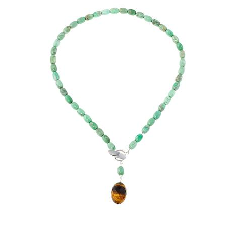 """Jay King Variscite and Tiger's Eye 18"""" Necklace"""