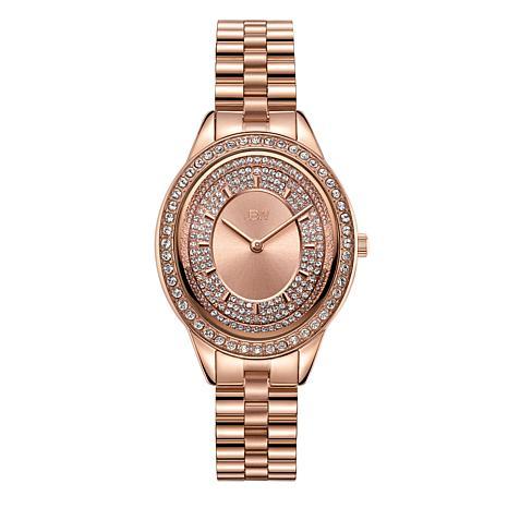 """JBW """"Bellini"""" Women's Rosetone Diamond Bracelet Watch"""