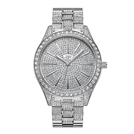 JBW Cristal Stainless Steel Diamond and Crystal Bracelet Watch