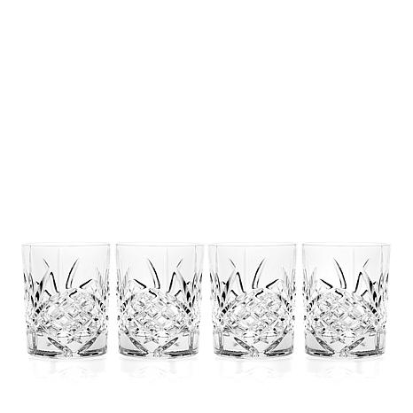 Jeffrey Banks Dublin 4-piece Crystal Double Old Fashioned Glasses