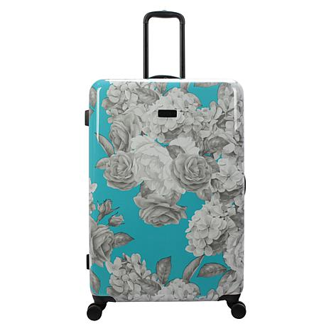 Jessica Simpson English Rose 29-inch Hardside Spinner in Turquoise