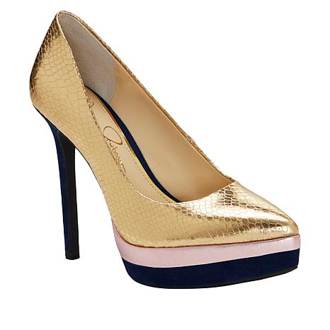Jessica Simpson Loyren Pointed-Toe Platform Pump