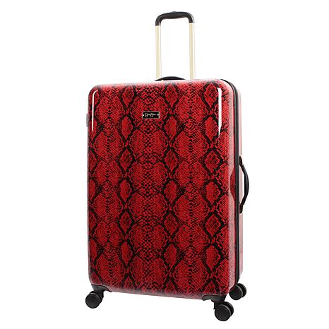 Jessica Simpson Python-Embossed 29-inch Hardside Spinner in Red