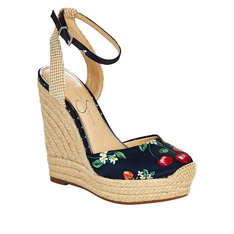 Jessica Simpson Zestah Printed Espadrille Wedge Sandal