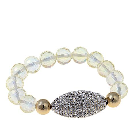 """Joan Boyce """"Edgy Chic""""  Faceted Bead Stretch Bracelet"""