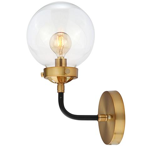 """JONATHAN Y Black and Brass Caleb 8"""" 1-light Brass Wall Sconce"""