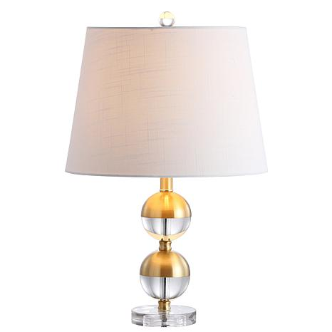 "JONATHAN Y Brass Jules 23"" Crystal Mini LED Table Lamp"