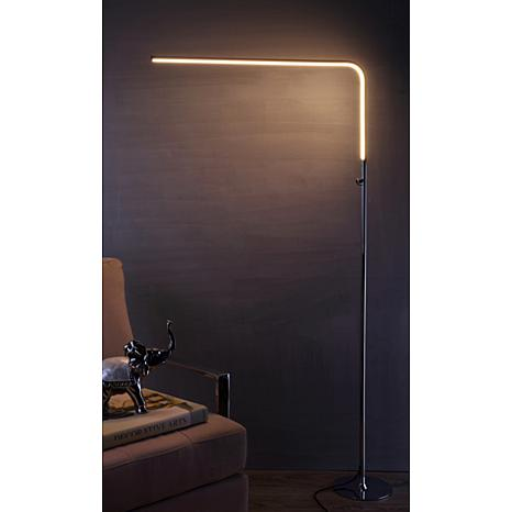 "JONATHAN Y Chrome Natalie 63"" LED Integrated Floor Lamp"