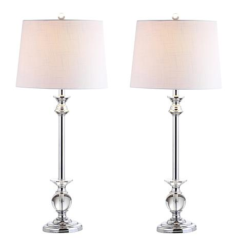 """Jonathan Y Elizabeth 33""""   Crystal and Chrome LED Table Lamp 2-pack"""