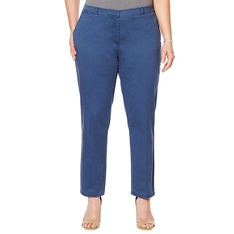 Jones NY Grace Cotton Ankle Pant - Plus