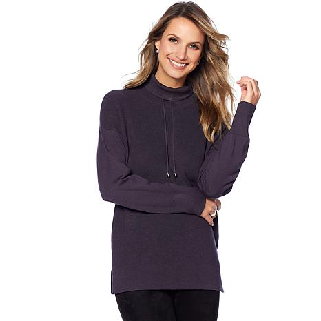Jones NY Waffle Stitch Drawstring Sweater - Missy